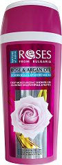 """Nature of Agiva Rose & Argan Oil Deep Moisturizing Shower Gel - Хидратиращ душ гел с розова вода и масло от арган от серията """"Roses"""" - маска"""