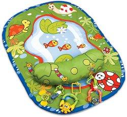 Постелка за активна гимнастика - Езерце - Комплект с възглавница за игра по корем - продукт