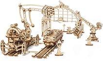Железопътна товарачка - Механичен 3D пъзел -