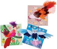 Декорирай сама картини с пера - Животни - Творчески комплект - образователен комплект