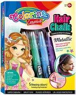 Пастели за коса - Girls - Комплект с аксесоари - играчка