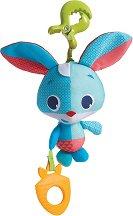 """Зайчето Томас - Плюшена играчка с вибрация за детска количка и легло от серията """"Малки откриватели"""" -"""