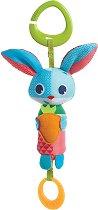 """Зайчето Томас - Плюшена играчка с дъвкалка за детска количка и легло от серията """"Малки откриватели"""" -"""