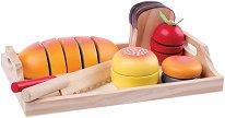 Хранителни продукти за игра - Детски дървен комплект -