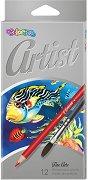 """Акварелни цветни моливи - Комплект от 12 цвята от серията """"Artist"""""""