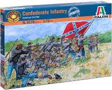 Пехотинци на Конфедерацията от Американската гражданска война - Комплект от 50 фигури -