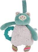 """Коте - Бебешка плюшена играчка с дъвкалка от серията """"Les Pachats"""" -"""