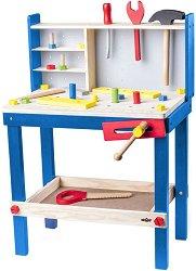 Детска работилница с инструменти - Woodyland - Дървен комплект за игра -