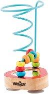 Лабиринт - Спирала - Дървена образователна играчка -