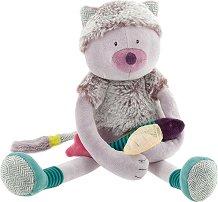 """Коте с рибка - Плюшена играчка за бебе от серията """"Les Pachats"""" - играчка"""