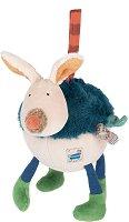 """Зайче - Музикална плюшена играчка за бебе от серията """"Les Zig et Zag"""" -"""