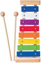 Ксилофон - Детски музикален инструмент от дърво и метал - играчка