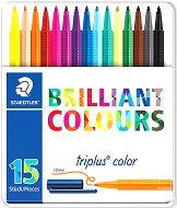 Флумастери - Brilliant Colours 323 - Комплект от 15 или 30 цвята в метална кутия