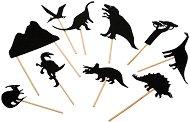 """Фигурки за театър на сенките - Динозаври - Комплект за игра от серията """"Les Histories du Soir"""" -"""