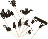 """Фигурки за театър на сенките - Приказни герои - Комплект за игра от серията """"Les Histories du Soir"""" -"""
