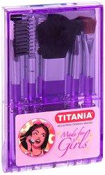 """Titania Made for Girls Makeup Brush Set - Комплект четки за грим от серията """"Made for Girls"""" -"""