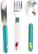 """Детски прибори за хранене - Комплект от вилица, лъжица и нож от серията """"Les Pachats"""" -"""