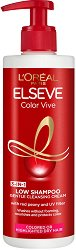 Elseve Color Vive Low Shampoo 3 in 1 Cleansing Cream - Шампоан без сулфати за боядисана коса - тоалетно мляко