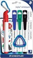 Маркер за бяла дъска с объл връх - Triplus 3551 - Комплект от 4 цвята
