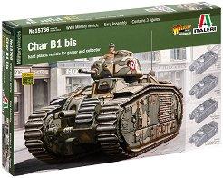 Френски танк - Char B1 bis - Сглобяем модел -