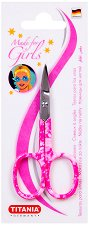 """Titania Made for Girls Nail Scissors - Ножичка за маникюр с извит връх от серията """"Made for Girls"""" -"""