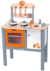 Детска кухня - Дървена играчки с аксесоари -
