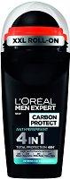 L'Oreal Men Expert Carbon Protect 4 in 1 Anti-Perspirant - Ролон дезодорант против изпотяване за мъже - лак