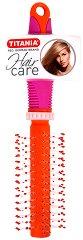 Кръгла детска четка за коса - крем
