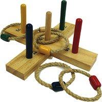 Рингове и мишени - Дървена играчка -