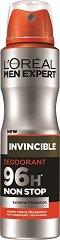 L'Oreal Men Expert Invincible 96H Anti-Perspirant - Дезодорант против изпотяване за мъже - шампоан