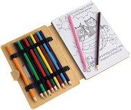 Оцветявай с моливи - Бухалът и котето - Творчески комплект за рисуване -