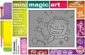 Мини магическа дъска за рисуване - Комплект с писалка - творчески комплект