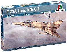 Израелски многоцелеви изтребител - F-21A Lion/Kfir C.1 - Сглобяем авиомодел -