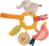 """Слонче - Плюшена играчка с дъвкалка от серията """"Les Papoum"""" -"""