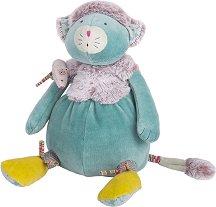 """Коте с мишленце - Плюшена играчка за бебе от серията """"Les Pachats"""" -"""