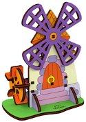 Мелница - Дървен 3D пъзел за оцветяване -