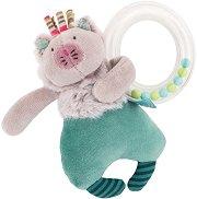 """Коте - Мека играчка с дрънкалка от серията """"Les Pachats"""" - играчка"""