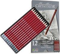 Графични моливи - Cleos - Комплект от 12 или 24 броя в метална кутия
