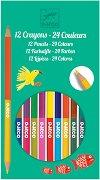 Двувърхи цветни моливи - Комплект от 24 цвята