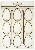 Фигурки от шперплат - Великденски яйца - Комплект от 9 броя с размери 3.4 x 5.2 cm