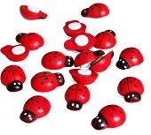 Декоративни фигурки - Калинки - Комплект от 30 броя в кутийка с размери 1.5 х 2 cm