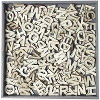 Дървени фигурки - Английска азбука - Комплект от 45 броя в кутия