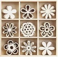 Дървени фигурки - Цветя
