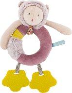 """Коте - Мека играчка с дрънкалка и дъвкалка от серията """"Les Pachats"""" -"""