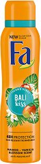 Fa Island Vibes Bali Kiss Anti-Perspirant - Дезодорант против изпотяване с аромат на манго и ванилов цвят - шампоан