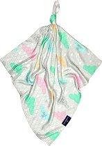Бамбукова кърпичка - Облачета - Размери 30 x 30 cm -