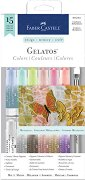 """Акварелни пастели - Metallics - Комплект от 15 части от серията """"Gelatos"""""""
