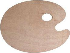 Овална дървена палитра