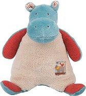 """Хипопотам - Мека бебешка играчка от серията """"Les Papoum"""" -"""