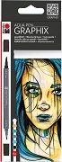 """Акварелни маркери - Metropolitan - Комплект от 6 цвята от серията """"Graphix"""""""